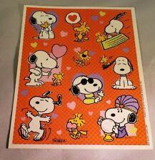 Vintage Snoopy Peanuts Stickers Full Sheet Valentines