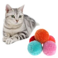 5 Pcs Soft Cat Toy Plush Balls Assorted Pet Game Kitten Interactive Candy Color