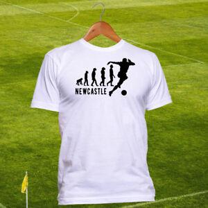Newcastle United FC Football T-shirt - The Magpies Evolution Tshirt - Cotton