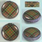 Antique Clanronald Tartan Ware Disc Pin Cushion * Scottish * Circa 1890