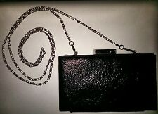 Kate Young Shoulder Bag Clutch BLACK Patent Leather MEGHAN MARKLEs FAV BOX Style