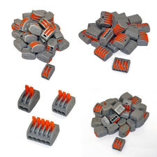 50 pc 32A Compact Splicing Connector Spring Lever Terminal Block Wire Connector
