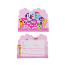 10PCS MY LITTLE PONY BIRTHDAY INVITATION CARDS LOOT BAG Party Supplies Deco