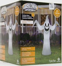 Halloween Gemmy 6 ft White Animated Shaking Ghost Airblown Inflatable NIB