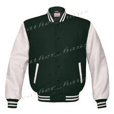 Original American Style Genuine Leather Varsity Letterman College Men Jackets 5X