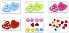 Acrylic Heart Sewing Buttons