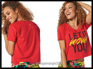ZUMBA FITNESS Let It Move You Crop Top Tee--Well Red Z1T01158 --EliteZWear S M L