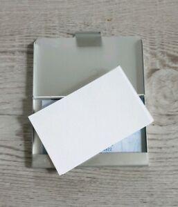 Edles VISITENKARTENETUI ausgebürsteten Aluminium superleicht für ca 15 Karten