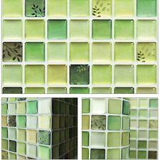 """5.3""""/13.4cm Beauty Anti Fungal Waterproof Easy Wall 3D Tile Sticker SAMPLE Green"""