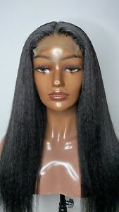 "20"" 4x4 Lace Closure Brazilian Hair Kinky Straight Wig - Quick Sale"