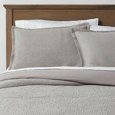 King Washed Waffle Weave Comforter & Sham Set Gray - Threshold