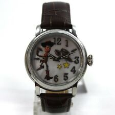 Disney Watch Ladies Automatic Toy Story Woody Leather Brown Pearl Collector's
