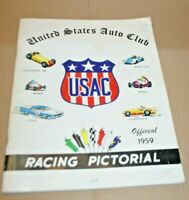 RACING PICTORIAL 1959 PREMIER EDITION USAC INDY NASCAR SPRINTS ANDRETTI FOYT