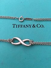 "Tiffany & Co. Double Strand Infinity 15.5"" .925 Silver Necklace"