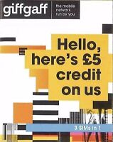 Giffgaff Giff Gaff 3 in 1 SIM FREE £5 Credit Unlimited Data (buy 1 get 2 free)