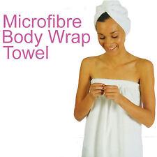 100% Micro-Fibre Body Towel Wrap  White Brand New 1 Size Fits Most Microfibre