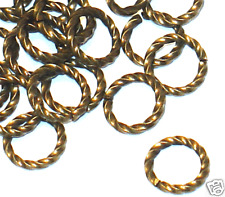 100 pcs of antiqued gold-plated brass fancy jumpring