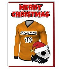 Personalised Football Themed Christmas Card - Wolverhampton Wanderers Colours