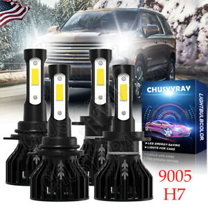 For Suzuki Grand Vitara 2006-2013 6000K Combo 9005 H7 LED Headlights Hi&Lo Beam