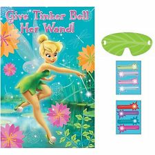 Disney Tinkerbell Fairies Birthday Poster 8 Player Party Game Set