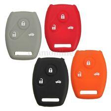 3Button Silicone Remote Key Case Holder Protector Cover For Honda Accord Civic