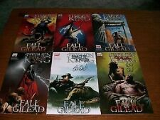 signed set (6) DARK TOWER FALL of GILEAD #1 2 3 4 5 6 PETER DAVID stephen king