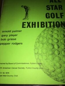 1974 All Star Exhibition Golf Program w/Jack Nicklaus Gary Player Bob Griese
