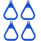 4x Kids Gym Trapeze Rings Gymnastic Swing Playground Outdoor Toys Blue