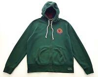 Rugby Ralph Lauren Sportsmans New York Green Hooded Sweatshirt Size XL Mens