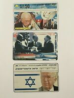 LOT 3 Telecard Israeli phone card bezeq Peace Izhak Rabin Free shipping