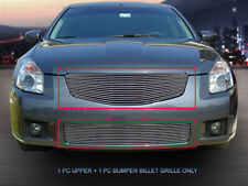 Fits 2007-2008 Nissan Maxima Polished Billet Grille Front Combo Grill