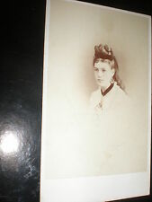 Cdv old photograph woman locket by Abbot at Dundee c1870s Ref 507(3)