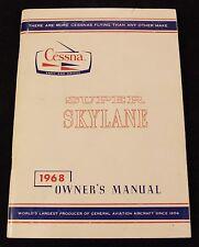 Very Nice 1968 Cessna Super Skylane Owner's Manual Printed 6-68 P206C Original