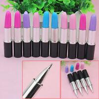 10pcs Novelty Lipstick Ball Point Ballpoint Pen Office Stationery Writing Pens
