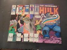 5 Iss Incredible Hulk #351-355 Jan-May 1989 Copper Age Marvel Comics ID:39880