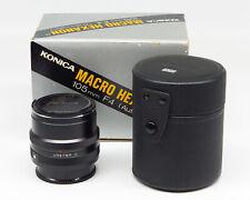 Konica Macro Hexanon AR 105mm 1:4 - Dedicated macro lens fine vintage condition