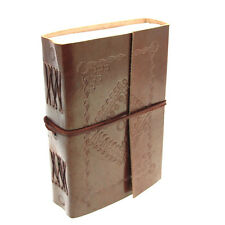 Fair Trade Handmade Eco Medium Embossed Leather Journal Notebook 2nd Quality