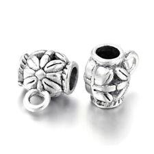 6pcs tibetan silver tone skull head loose beads fit european bracelet h0804