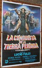 Used Cartel de Cine LA CONQUISTA DE LA TIERRA PERDIDA  Vintage Movie Film Poster