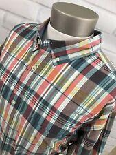 Woolrich Men's Short Sleeve Plaid Button Front Shirt Sz XXL 2XL