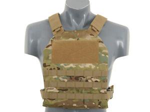 8FIELDS Plate Carrier Vest w. Dummy Armor- Airsoft/Paintball- MTP Multicam Camo
