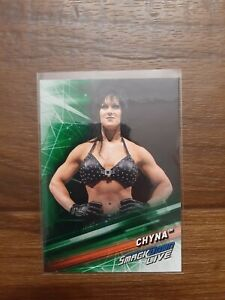2019 Topps WWE SmackDown Live Wrestling Green Parallel #69 Chyna