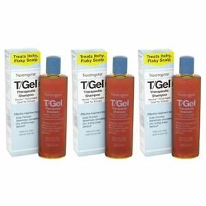 3 x 250ml Neutrogena T/Gel Therapeutic Shampoo Tgel T Gel