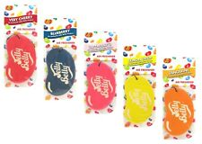 Jelly Belly Bean Sweets Hanging Card Car Air Freshener x 5 Assorted Fragrances