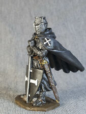 Toy Soldiers Painted Medieval Knight of the Teutonic Order 1/32 Figures 54mm Tin