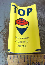 Vintage package of TOP Cigarette Rolling Paper, unused, great colors & graphics