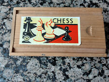Boxed Vintage Staunton Chess set -  K&C Ltd. King stands 2 1/2""