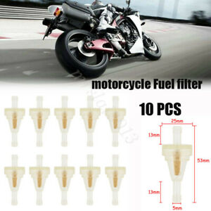 """10PCS 1/4"""" 6-7mm Mortocycle Inline Gas Oil Fuel Filter Scooter Hose Small Engine"""