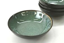 "Threshold Belmont Green Stoneware Soup Cereal Dinner Bowls 7-7/8"" Speckled"
