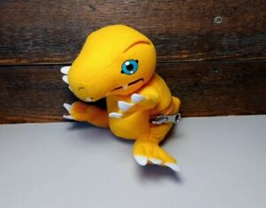 Digimon Digichangers Plush Agumon Digivolve Koromon 2000 Digivolving golden bear